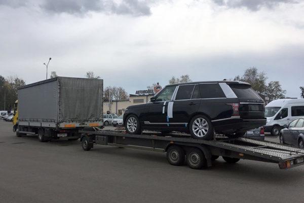 autospas perevozka elitnih avtomobilei range rover