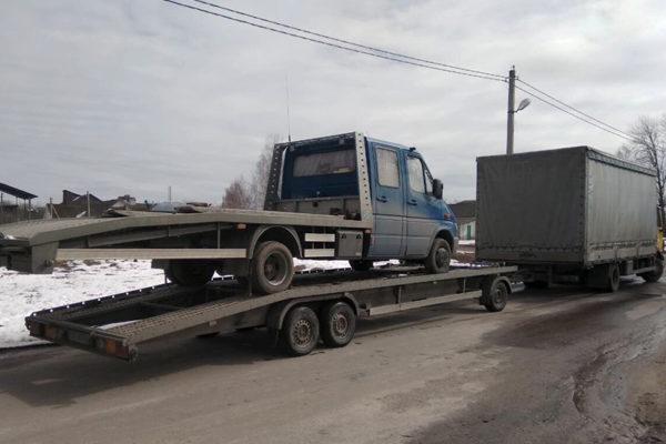 Автоспас эвакуация Крытый автовоз лафет с эвакуатором 2